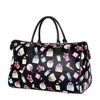 2018 New Women Travel Bags Luggage Bag Large Waterproof Portable Bag Travel Women PU Leather Weekend