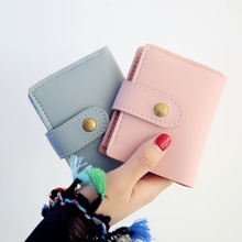 Korean Women Small Wallets Purse Short  PU Leather Coin Pocket Purses Female Money Wallets Card Holder Bag