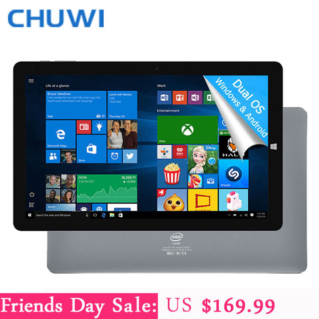 Chuwi официальный! 10.8 дюймов chuwi hi10 plus tablet pc windows 10 android 5.1 двойной os intel atom z8350 quad core 4 ГБ ram 64 ГБ rom