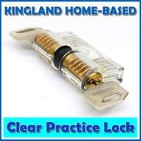 Transparent Visible Pick Cutaway Practice Padlock Lock With Broken Key Removing Hooks Lock Extractor Set Locksmith Tool