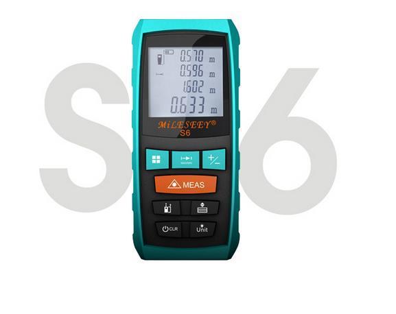 Mileseey s6 handheld entfernungsmesser laser distanzmessgerät