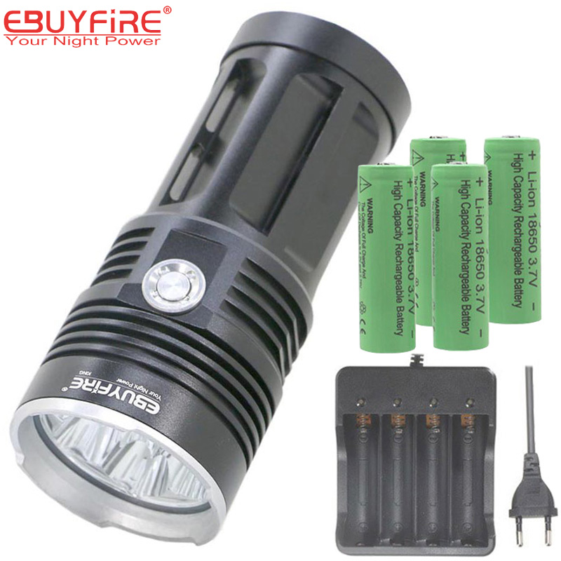18650 Flashlight LED Torch Lamp 10T6 3T6 7T6 flash light waterproof Camping hunting Lights lantern By 18650 Rechargeable Battery-in LED ...