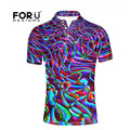 FORUDESIGNS Polo Shirt for Man Clothing 2017 New 3D Colorful Printing Men Polo Summer Breathable Short Sleeve Polo Shirts Camisa