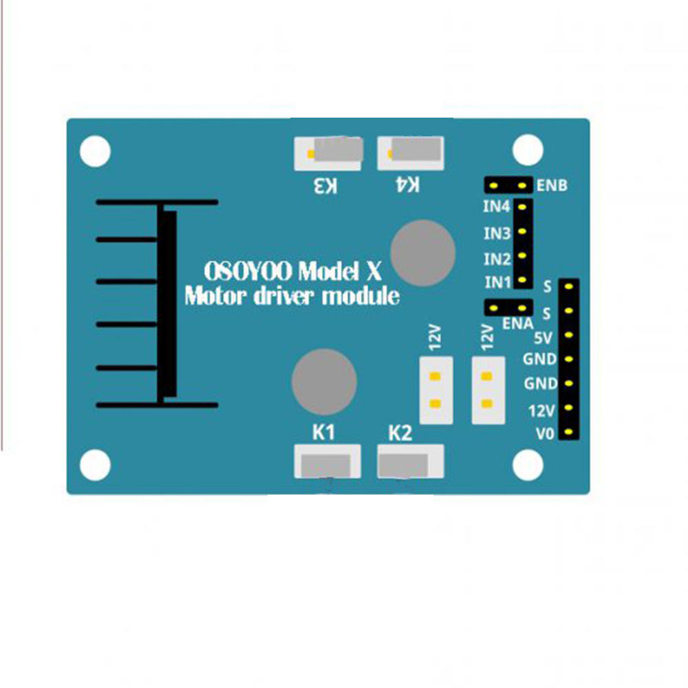 Osoyoo Model X Motor Driver Module Dual H Bridge Stepper Circuit Design An Integrated Monolithic In A 15 Lead Multiwatt And Powerso20 Packages It Is High Voltage Current Full De Signed
