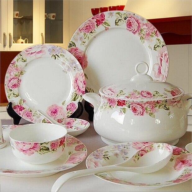 buy dinnerware set bone china jingdezhen ceramic tableware housewarming gift married dishes. Black Bedroom Furniture Sets. Home Design Ideas