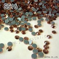 YANRUO #2028HF SS16 Lt.Peach 1440Pcs Hotfix Strass Stone Crystal Rhinestone Flatback For Bags