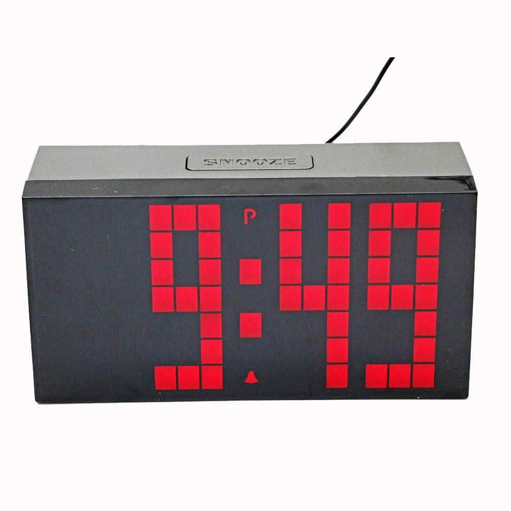 Alarme électronique Horloge Numérique Led Compte À Rebours Horloges Snooze Chevet Montre avec Température Calendrier pour La Maison Décoration