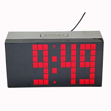 Electronic Alarm Clock Digital Led Countdown Clocks Snooze Bedside Watch with Temperature Calendar for Home Decoration