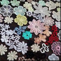 20 шт./лот цветки разных цветов аппликации вышитые органзы сетки хлопок цветок pacth планки для Аксессуары для одежды