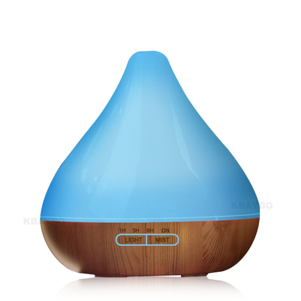 Essential Oil Diffuser, 300ml Wood Grain Aroma Diffuser with Cool Mist and 7 Changing Colors Light Ultrasonic Humidifier crdc air humidifier ultrasonic 100ml aroma diffuser glass essential oil diffuser mist maker with 7 colors changing led light