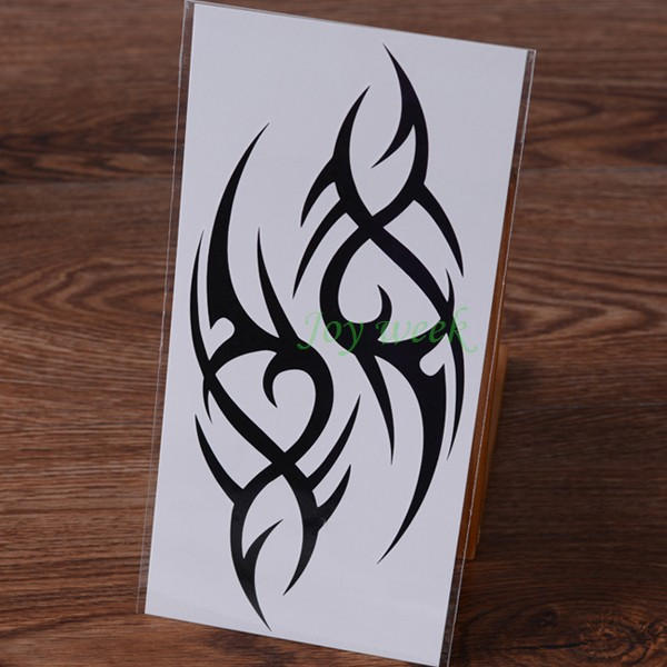 Waterproof Temporary Tattoo Sticker fire flame totem dragon hawk henna tatto stickers flash tatoo fake tattoos for women men 7 3