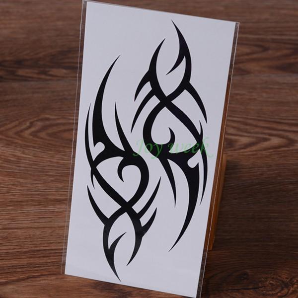 Waterproof Temporary Tattoo Sticker fire flame totem dragon hawk henna tatto stickers flash tatoo fake tattoos for women men 7 3