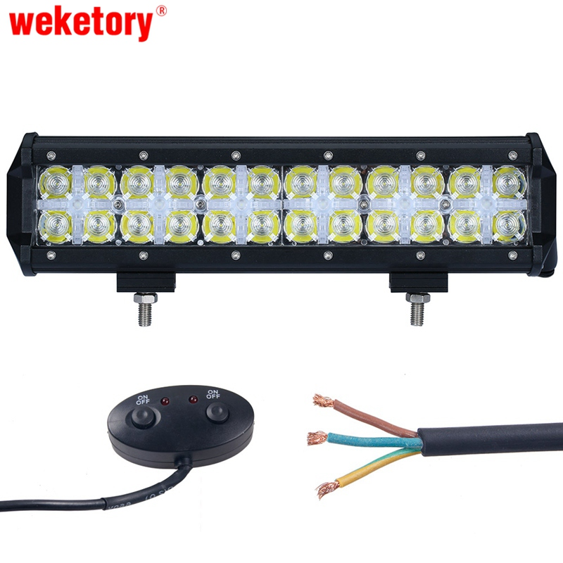 weketory 7D 6LED DRL 12 inch 120W LED Work Light Bar for Tractor OffRoad 4WD 4x4 Truck SUV ATV Spot Flood Combo Beam 12V 24v цена