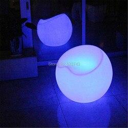 Moderne en plastique commercial bar meubles télécommande led multicolore Fauteuil pomme chaise Lumineux rechargeable tabourets de bar