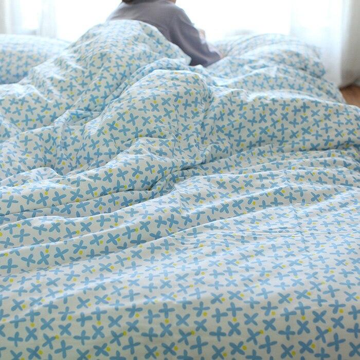 Twill100%Cotton Plant Japan Style Zakka comfortable bedding set duvet cover set bed sheet duvet cover flower print pillow case