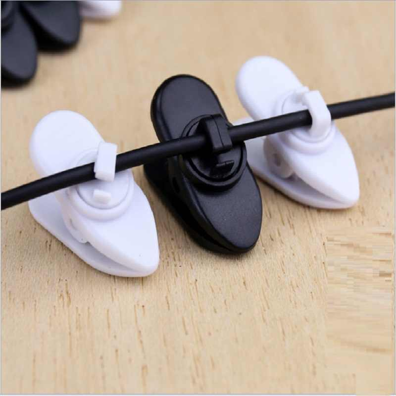 Microphone Wired Clip Cable Cord Clip Clamp Collar Lapel Shirt Holder For Headphone Earphone free shipping