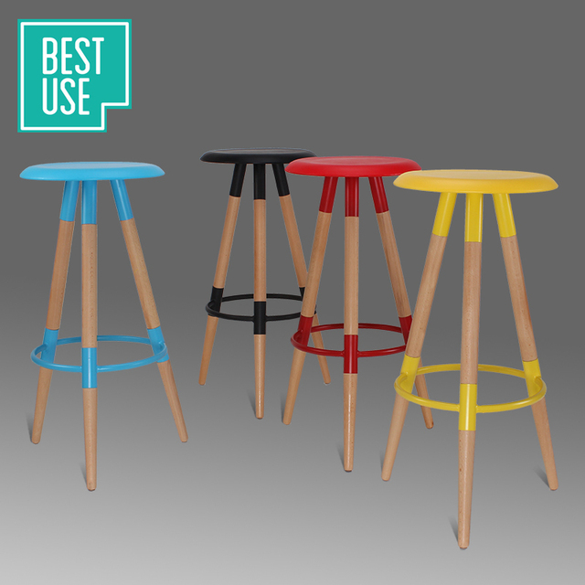 Best Wish Wood Bar Chair Bar Stool Bar Stool Chair Eames Chair Simple And  Stylish Bar
