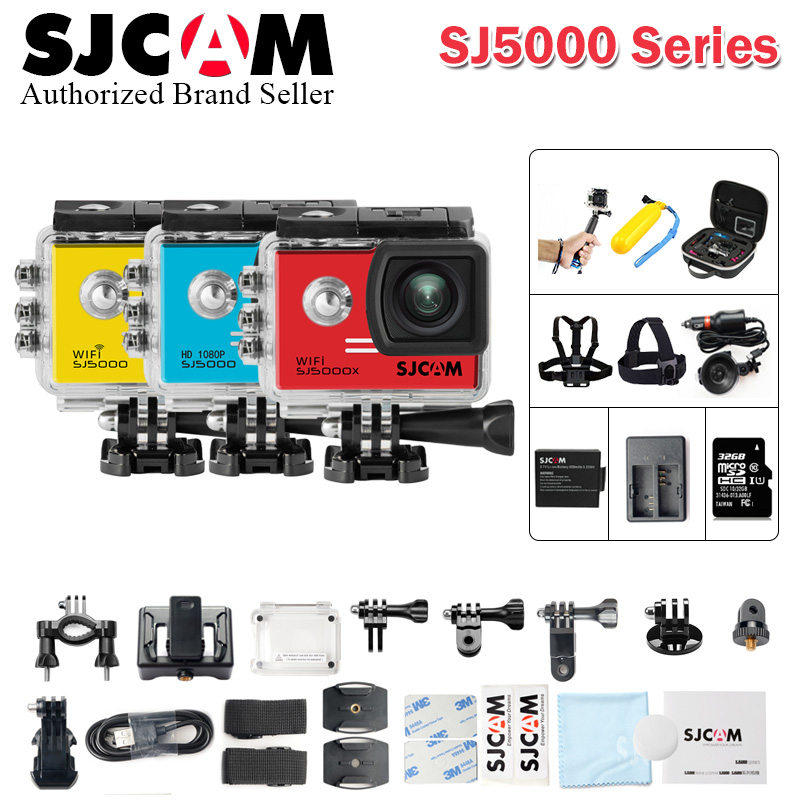Original SJCAM SJ5000X Elite Wifi SJ5000 Plus SJ5000 WIFI Sj5000 30M Waterproof Sports Action Camera Car better go pro Mini DVR 2 0 4k sjcam sj5000 series sj5000x elite wifi ntk96660 mini gyro 30 waterproof sports action camera sj cam dvr many accessories
