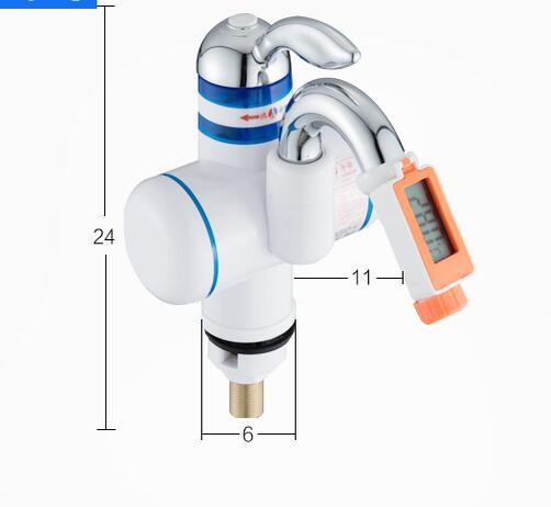 Digital Temperature Faucet Instant Water Heater 3000W With Leakage Protector