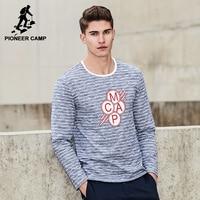 Pioneer Camp New Fashion Strip T Shirt Men Brand Clothing Long Sleeve Fashion T Shirt Male