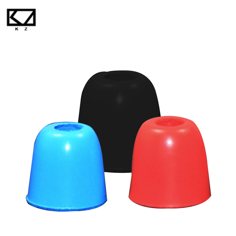 KZ 3Pair/6pcs S M L 5mm Noise Isolating 3 colors Comfortable Silicone Ear Tips Memory Foam Ear pads for KZ Headphone Earbud