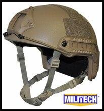 Militech Coyote Brown CB occ циферблат NIJ уровень IIIA 3A высокого сократить пуленепробиваемое баллистических кевлар шлем с 5 лет гарантия