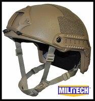 M LG Coyote Brown OCC Dial NIJ Level IIIA 3A FAST Bulletproof Kevlar Helmet With HP