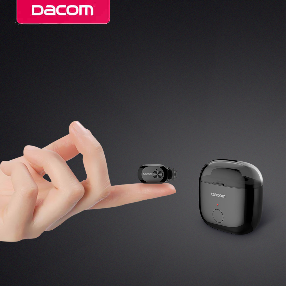 DACOM K6P Mini Bluetooth Earphone In-ear Wireless Mono Earbud Two Layer Eartips Earpiece with Microphone for Phone iPhone Xiaomi