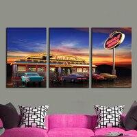 Fancy Rock Diner Restaurant Canvas Art Print Waterproof Fabric Canvas For Home Kitchen Room Decor 3