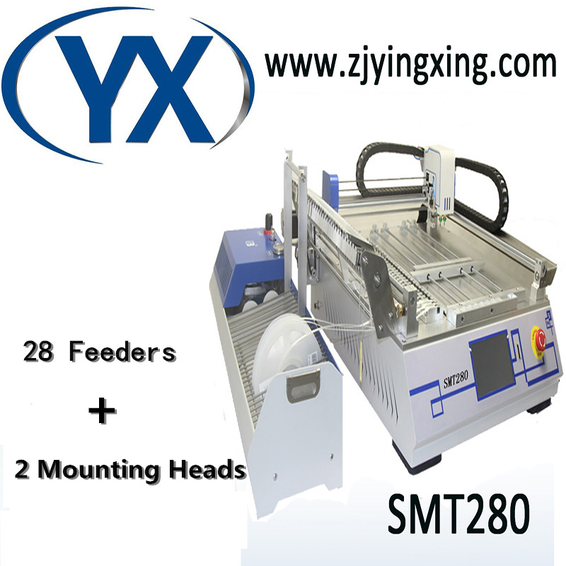 28 Feeders LED Chip Mounter SMD Mounting Machine Pick and Place SMT Desktop Low Cost High Speed for Led Assembly Line