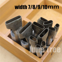 Handmade Leather DIY Tools Strap One Shape Cowhide Punch Oval Shape Punch 7 8 9 10mm