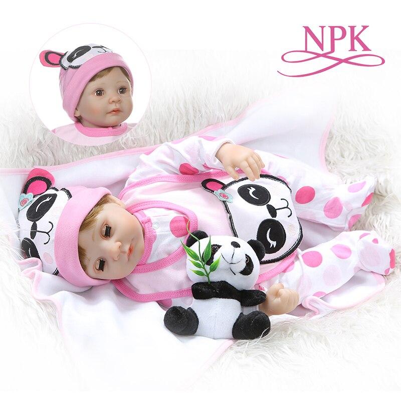 NPK 55 ซม. ตุ๊กตา body 1/4 ซิลิโคนแขนขา reborn ทารกตุ๊กตา blink สาวหวานเด็กวันเกิดของขวัญ-ใน ตุ๊กตา จาก ของเล่นและงานอดิเรก บน   1