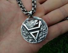 1pcs wholesale Viking bear pendant Veles symbol pendant slavic bear talisman pendant pagan men necklace Veles  symbol jewelry