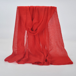 Image 3 - 20 kleur 2019 Nieuwe Winter Vrouwen Zwart Navy Effen Kleur Moslim Hijab Shimmer Glitter Sjaal Wrap Vrouwelijke 90cm * 180cm