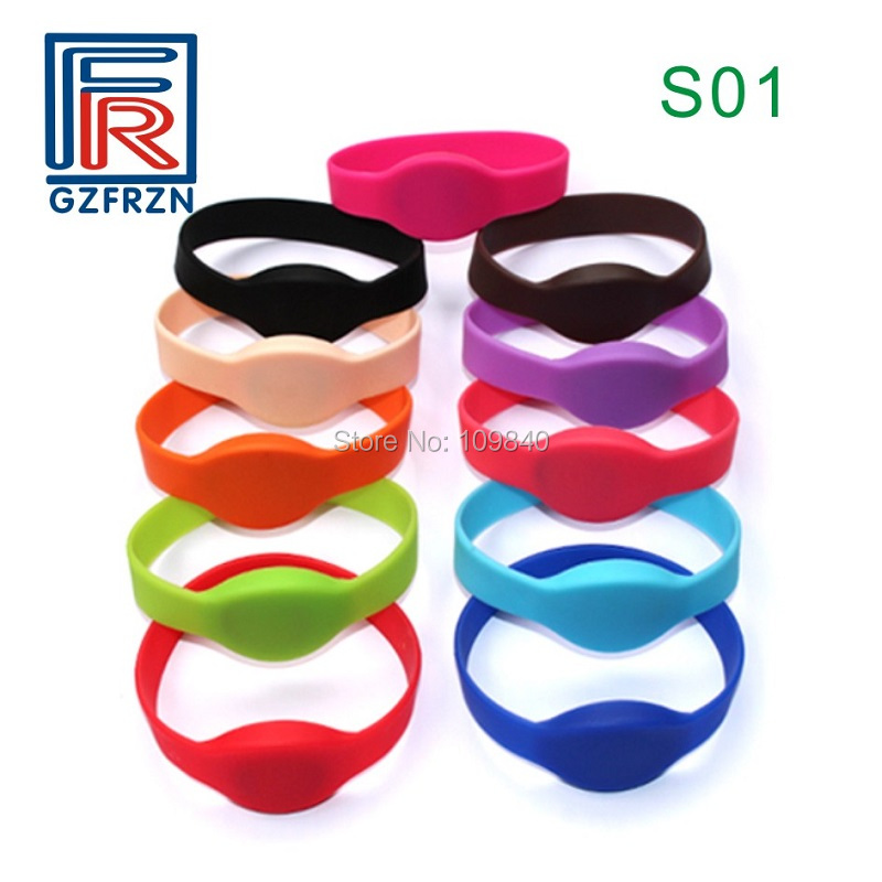100pcs/lot S01 Style 13.5mhz NTAG213 NFC Wristband/bracelet RFID Bands Card For NFC Payment Access Control Event