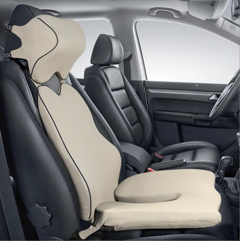 High Quality Car Cushion Set Memory Foam Car Lumbar Support Set Back Lumbar Neck Pillow Seat High Quality Car Cushion Set Memory Foam Car Lumbar Support Set Back Lumbar Neck Pillow Seat Cushion for Driving Office Home