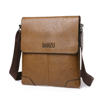 New Arrival Man Vertical PU Leather Bag Men Messenger Casual Male Famous Brand Designer Handbags High
