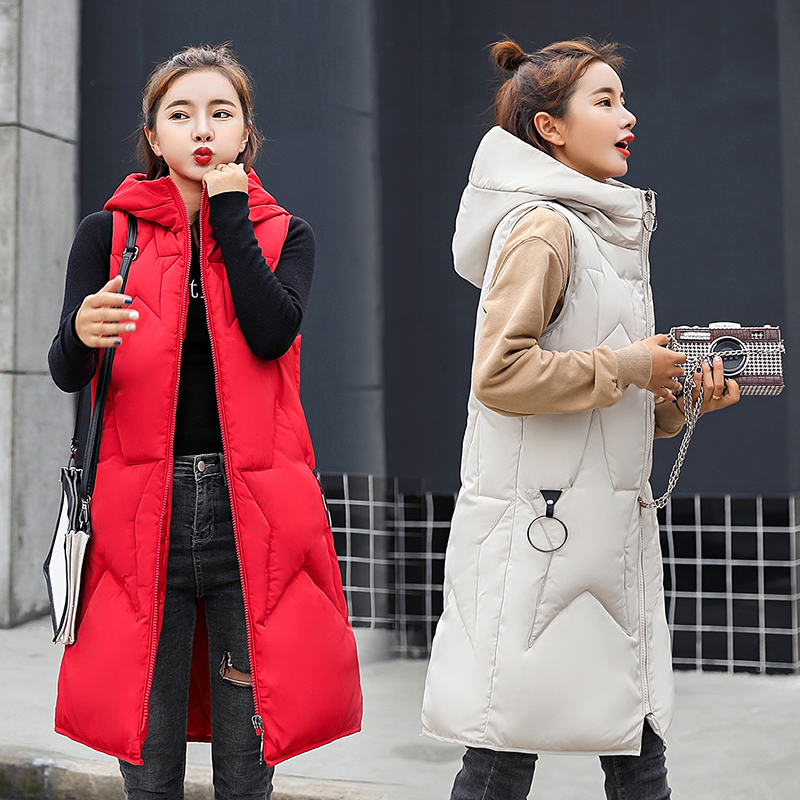 Knowledgeable Winter Women Vest Casual Stars Hooded Waistcoat Zipper Pocket Thicken Warm Sleeveless Sintepon Parkas Vest For Female Fine Quality