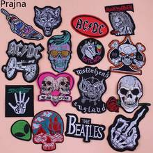 Cannon Iron On Patches Rock Punk AC/DC Embroidered Apparel Fabric Sewing Applique DIY Clothes Stickers Praches D