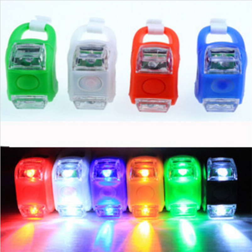 1pcs Mini Waterproof Silicone mountain Bike Light Cycling Beetle Warning lights Front Rear Tail Lamp Bicycle light BL0501