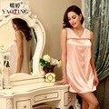 2016 Novo Estilo Verão Mulheres Lace Elegante Vestido Camisola Roupa Em Casa Camisola Feminino Pijamas Pijamas Sarafan