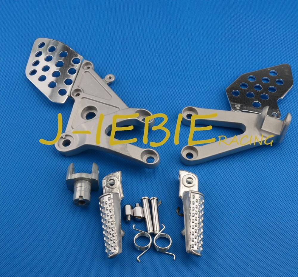 Front rider Foot pegs Brackets For Honda CBR600RR CBR600 CBR 600 RR F5 2003 2004 2005