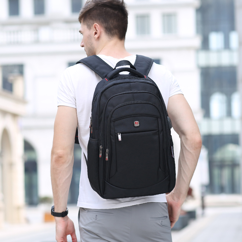 Balang Brand Casual Unisex Backpack Multifunction Usb Charging For Men Backpacks 15.6 Laptop Teenager Bagpack Students Bags #5