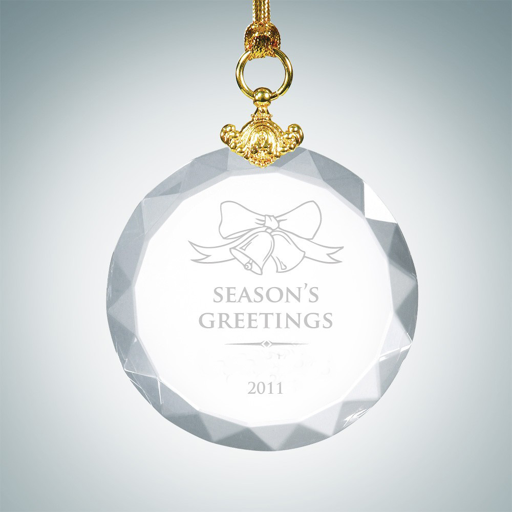 Flat glass ornaments - 24pcs Lot Christmas Ornament Clear Round Crystal Hanging Ornament Xmas Home Party Decor China