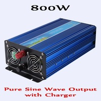 800W Pure Sine Wave Solar Wind Inverter With Charging Function DC 12V 24V To AC 110V