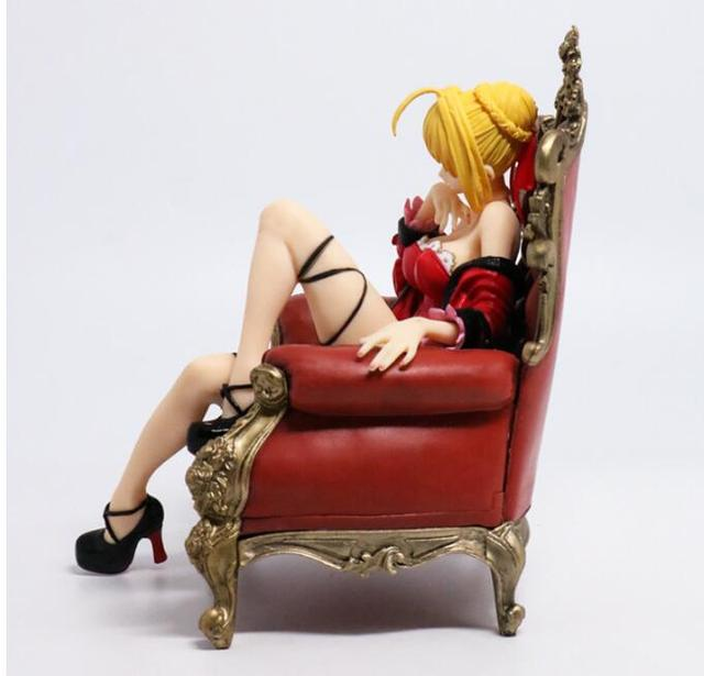16cm Fate/Stay Night Saber Red sexy Anime Action Figure PVC New Collection figures toys Collection for Christmas gift