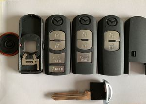 Smart Remote Key Shell 2 3 4 Button Fit For Mazda X-5 Summit M3 M6 Axela Atenza With Emergency Key Blade(China)