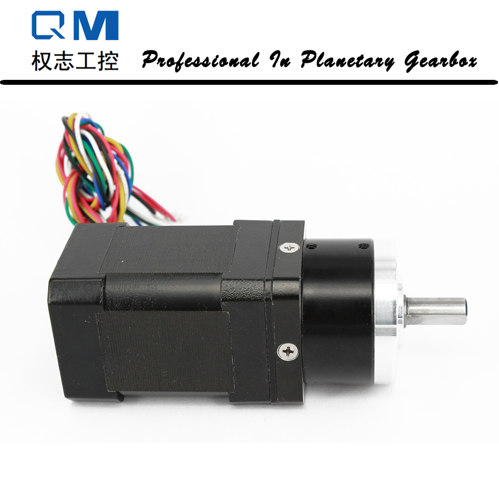 Brushless dc motor nema 17 60W 24V with planetary reduction gearbox ratio 5:1  for peristaltic pump dental endodontic root canal endo motor wireless reciprocating 16 1 reduction