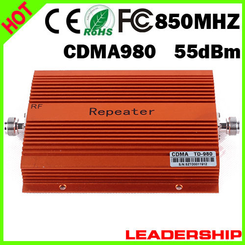 Wholesale Free Shipping CDMA980 850MHZ Booster CDMA Repeater Mobile Phone Signal Repeater 850mhz Cell Phone Booster 3G Amplifier