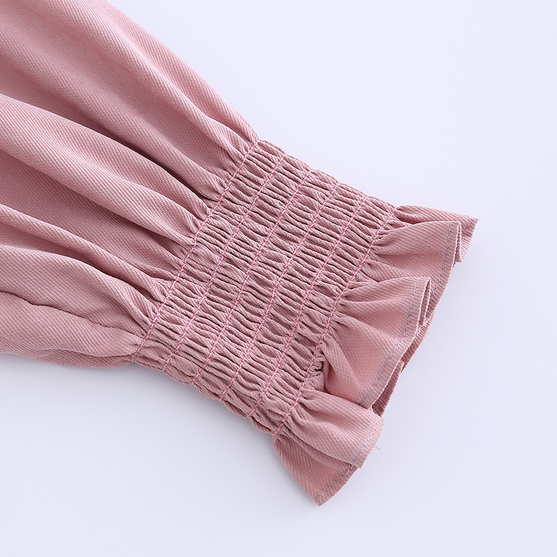 GOPLUS 2019 Spring Ruffles Pink Blouse Women Fashion Long Sleeves Shirts Ladies Vintage Streetwear Casual Clothes Female Tops in Blouses amp Shirts from Women 39 s Clothing